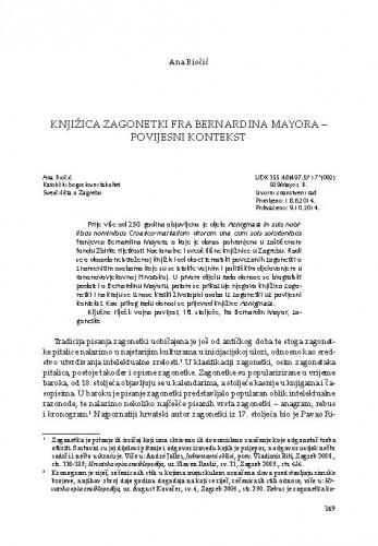 Knjižica zagonetki fra Bernardina Mayora - povijesni kontekst