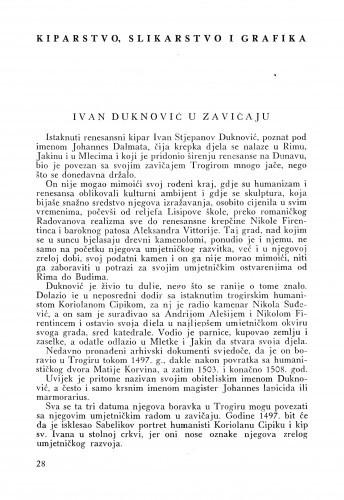 Ivan Duknović u zavičaju / Cvito Fisković