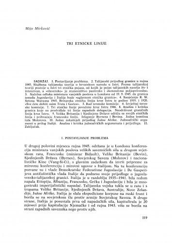 Tri etničke linije / M. Mirković