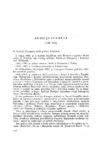 Andrija Štampar (1888-1958) : [nekrolog] / B. Kesić