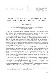 Avian influenza in Italy - experiences in management of multiple introductions / Giovanni Cattoli
