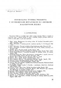 Sufiksalna tvorba pridjeva u suvremenom hrvatskom ili srpskom književnom jeziku / S. Babić