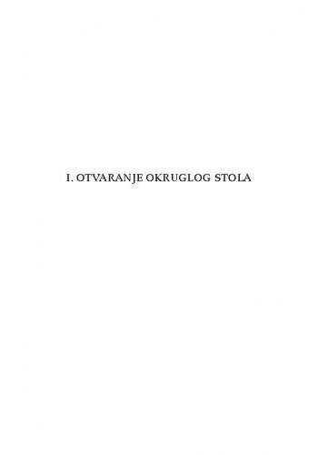 Otvaranje Okruglog stola / Jakša Barbić, Zvonko Kusić, Ante Galić, Josip Salapić, Branko Hrvatin