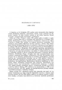 Radoslav Lopašić (1896-1979) : [nekrolozi] / F. Hajnšek