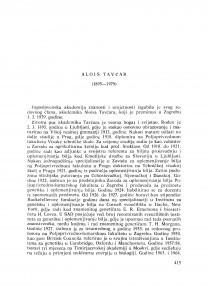 Alois Tavčar (1895-1979) : [nekrolozi] / M. Vidaković