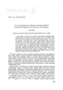 Histomorfološke osobitosti amnionskog epitela goveda / H. Gomerčić