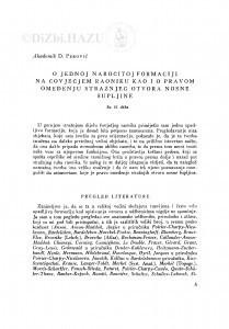 O jednoj naročitoj formaciji na čovječjem raoniku kao i o pravom omeđenju stražnjeg otvora nosne šupljine / D. Perović