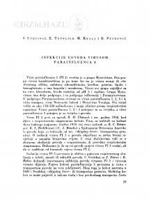 Infekcije goveda virusom parainfluenca 3 / S. Cvetnić, E. Topolnik, M. Kralj i D. Petrović