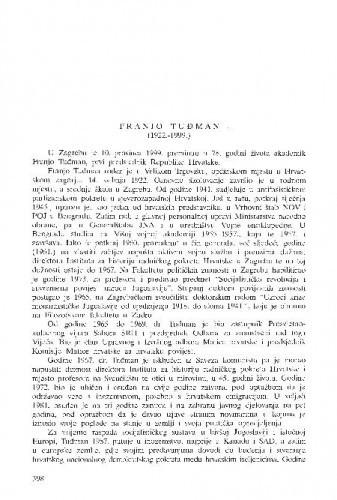 Franjo Tuđman (1922.-1999.) / Hodimir Sirotković