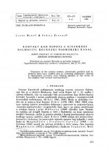 Kontakt kod Šopota u sjevernoj Dalmaciji: eocenski podmorski kanal / Lj. Babić, J. Zupanič