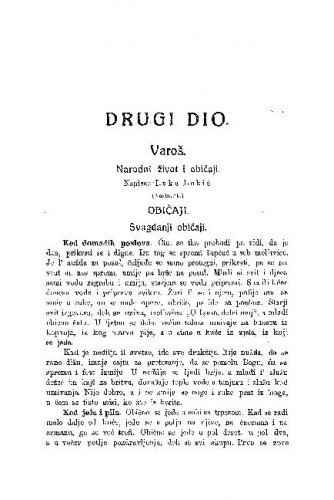 Varoš : narodni život i običaji / L. Lukić