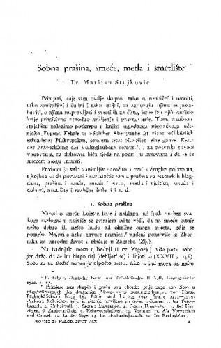 Sobna prašina, smeće, metla i smetlište / M. Stojković