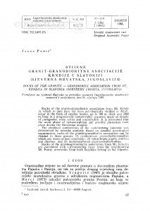 Stijene granit-granodioritne asocijacije Krndije u Slavoniji (sjeverna Hrvatska, Jugoslavija) / J. Pamić