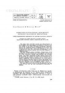 Gornjopleistocenski sedimenti istočne Slavonije (Hrvatska) / I. Galović, R. Mutić