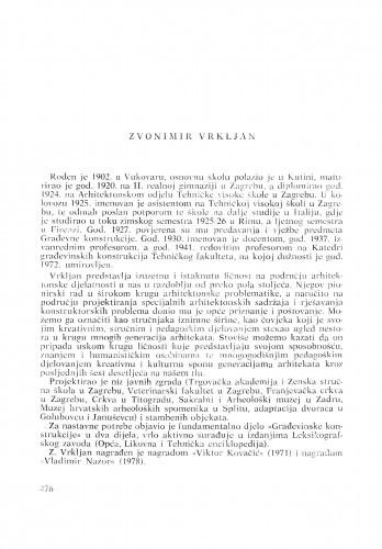 Zvonimir Vrkljan : [biografije novih članova Akademije]