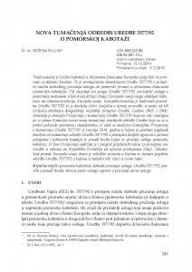 Nova tumačenja odredbi Uredbe 3577/92 o pomorskoj kabotaži / Božena Bulum