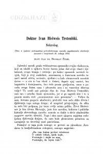 Doktor Ivan Bleiweis Trsteniški : nekrolog / B. Šulek