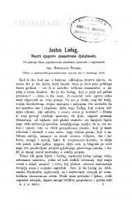 Justus Liebig : nacrt njegove znanstvene djelatnosti / B. Šulek