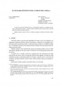 O (ne)nadležnosti suda i upravnog tijela / Jakob Nakić ; Loris Rak