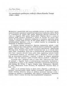 Uz osamdesetu godišnjicu rođenja slikara Kamila Tompe (1903-1983) / Ivan Šimat Banov