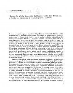 Bašćanska ploča : značenje Bašćanske ploče kao fenomena u kulturnoj fizionomiji srednjovjekovne Evrope / Andre Mohorovičić