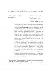 Sporazum o arbitraži između Hrvatske i Slovenije / Davorin Rudolf ml. ; Irena Kardum