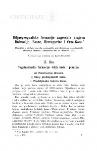 Biljnogeografske formacije zagorskih krajeva Dalmacije, Bosne, Hercegovine i Crne Gore : <II. dio> vegetacionske formacije viših brda i planina / L. Adamović