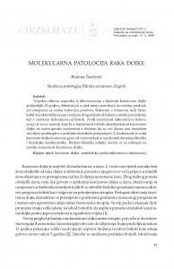 Molekularna patologija raka dojke / Božena Šarčević