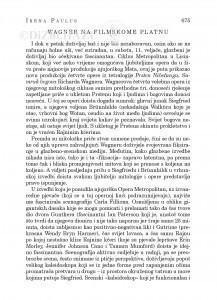 Wagner na filmskome platnu : [glazbena kronika] / Irena Paulus