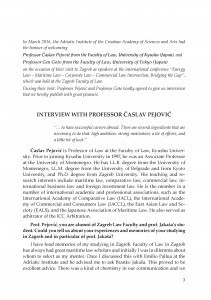 Interview with professor Časlav Pejović