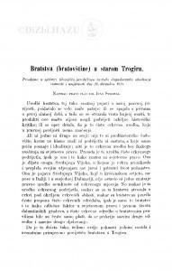 Bratstva (bratovštine) u starom Trogiru / I. Strohal