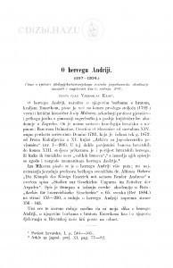 O hercegu Andriji : (1197-1204.) / V. Klaić