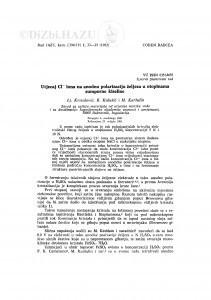 Utjecaj Cl- iona na anodnu polarizaciju željeza u otopinama sumporne kiseline / Lj. Krstulović, B. Kulušić, M. Karšulin