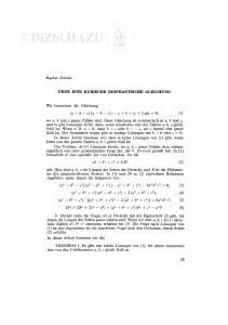 Ueber eine kubische diophantische Gleichung / B. Zelenko