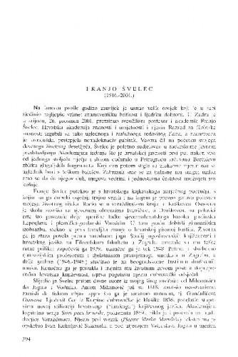 Franjo Švelec (1916.-2001.) / Josip Vončina