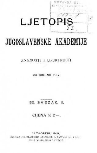 Za godinu 1917. Sv. 32/II
