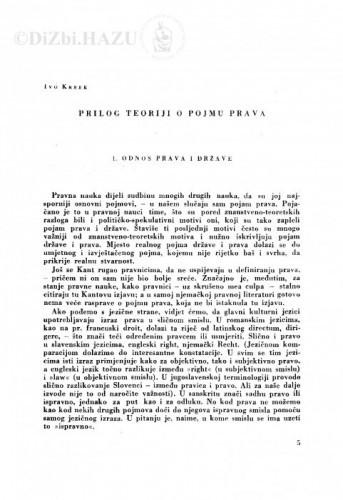 Prilog teoriji o pojmu prava / I. Krbek
