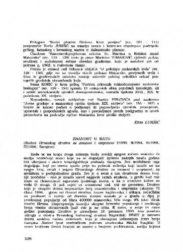 Znanost u ratu (Radovi Hrvatskog društva za znanost i umjetnost 1(1993), 2(1994), 3(1995), 4(1996), Sarajevo) / Mladen Ančić