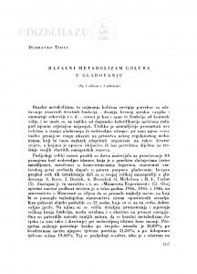 Bazalni metabolizam goluba u gladovanju / D. Timet
