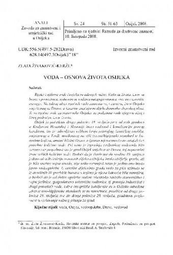 Voda - osnova života Osijeka ; Template - naa2 / Zlata Živaković-Kerže