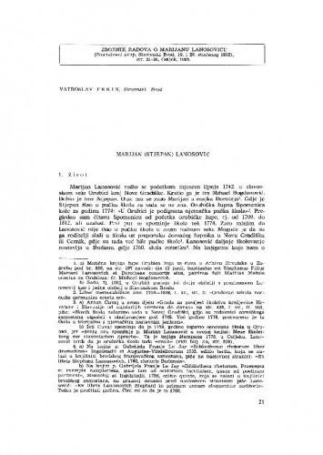 Slavonski Brod: Marijan (Stjepan) Lanosović / V. Frkin
