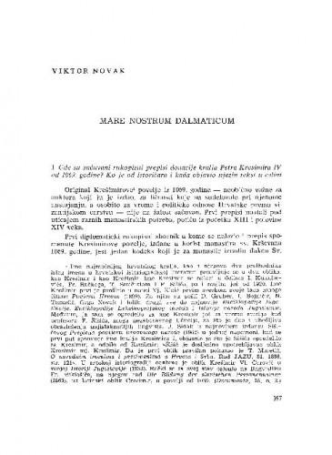 Mare nostrum dalmaticum / Viktor Novak
