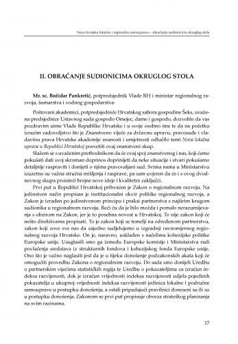 Obraćanje sudionicima okruglog stola / Božidar Pankretić, Davorin Mlakar
