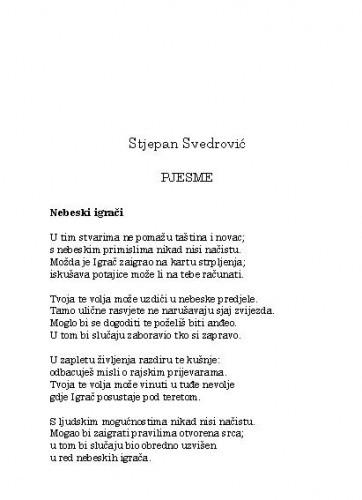 Pjesme / Stjepan Svedrović