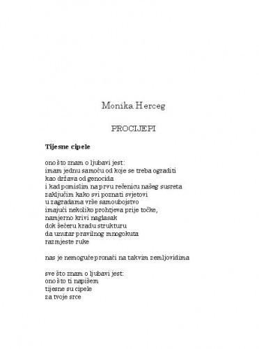 Procijepi / Monika Herceg