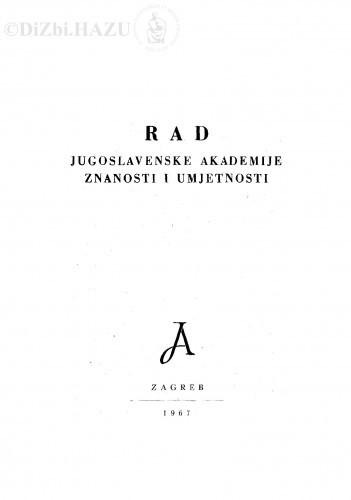 Knj. 11(1967) : RAD