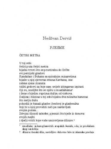 Pjesme / Nedžvan Derviš; s arapskog prepjevala Tatjana Paić-Vukić