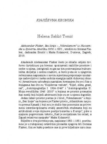 Književna kronikaHelena Sablić Tomić