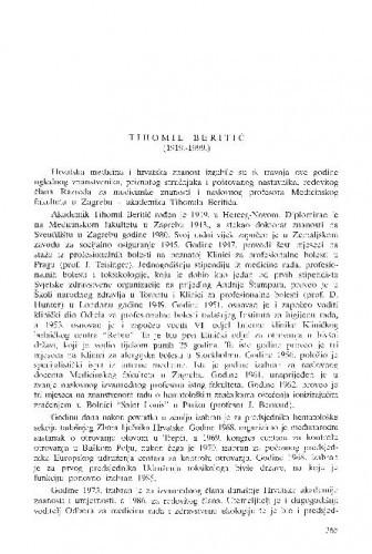 Tihomil Beritić (1919.-1999.) / Fedor Valić