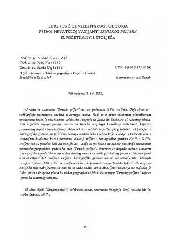 Luke i lučice velebitskog Podgorja prema hrvatskoj varijanti